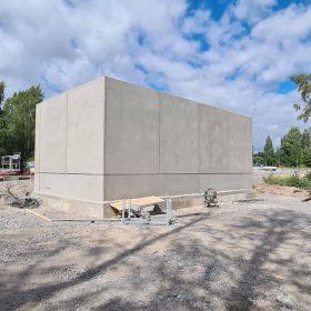 Uusi rakennus Hiekkapuhallusyksikkö Koivukoski Oy
